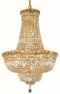 Elegant V2528D22G/RC Tranquil Gold Foyer Lighting