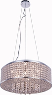 Elegant V2914D20C-RC Amelie Chrome Halogen 20  Drum Hanging Lamp