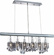 Elegant V3100D30C-RC Chorus Line Chrome 30  Island Light Fixture