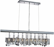 Elegant V3100D40C-RC Chorus Line Chrome 40  Kitchen Island Light Fixture