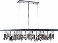 Elegant V3100D48C-RC Chorus Line Chrome 48  Island Lighting