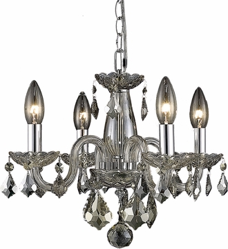 Elegant V7804D15GT-GT-RC Rococo Golden Teak Mini Hanging Chandelier