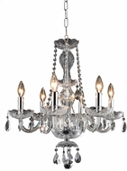 Elegant V7836D20C-RC Princeton Chrome Mini Lighting Chandelier