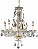 Elegant V7836D20G-RC Princeton Gold Mini Chandelier Lamp