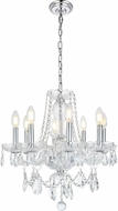 Elegant V7838D20C-RC Princeton Chrome Mini Chandelier Light