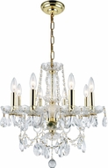 Elegant V7838D20G-RC Princeton Gold Mini Ceiling Chandelier