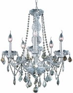 Elegant V7855D21C-GT-RC Verona Chrome Mini Hanging Chandelier