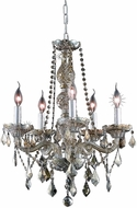 Elegant V7855D21GT-GT-RC Verona Golden Teak Mini Lighting Chandelier