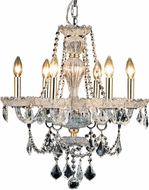 Elegant V7896D21G-RC Giselle Gold Mini Chandelier Light