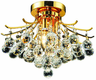 Elegant V8000F16G/RC Toureg Gold 16  Flush Mount Lighting
