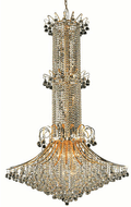 Elegant V8008G44G/RC Toureg Gold Foyer Light Fixture