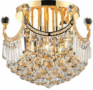 Elegant V8949F16G/RC Corona Gold Flush Mount Lighting Fixture