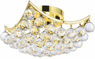 Elegant V9800F12G/RC Corona Gold 12  Flush Lighting