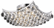Elegant V9800F14C/RC Corona Chrome 14  Flush Mount Light Fixture