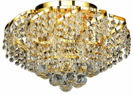 Elegant VECA1F16G/RC Belenus Gold Overhead Lighting Fixture