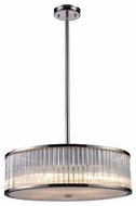 ELK 10129/5 Braxton Crystal Large Pendant Light/Semi-Flush Ceiling Light