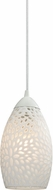 ELK 10246-1 Etched Glass Contemporary White Mini Pendant Hanging Light