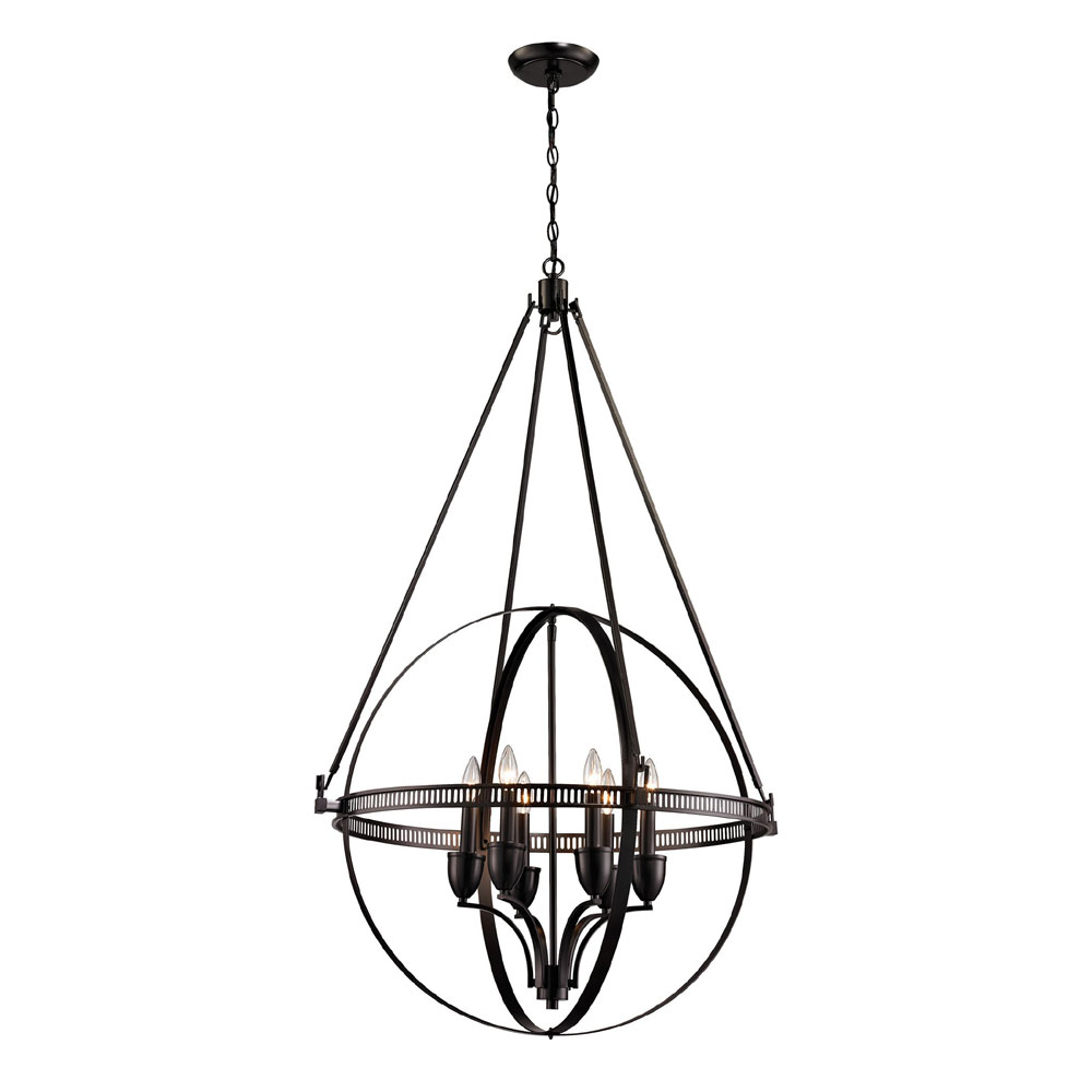 Elk 10393 6 Hemispheres Contemporary Oil Rubbed Bronze Chandelier Lighting Loading Zoom