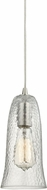 ELK 10431-1CLR Hammered Glass Contemporary Satin Nickel Mini Hanging Pendant Lighting
