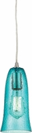 ELK 10431-1HAQ Hammered Glass Contemporary Satin Nickel Mini Pendant Hanging Light