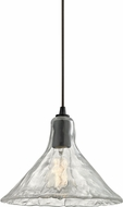 ELK 10435-1 Hand Formed Glass Modern Oil Rubbed Bronze Mini Pendant Lighting Fixture
