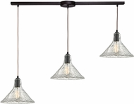 ELK 10435-3L Hand Formed Glass Modern Oil Rubbed Bronze Multi Hanging Pendant Light