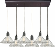 ELK 10435-6RC Hand Formed Glass Modern Oil Rubbed Bronze Multi Hanging Light Fixture