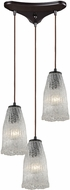 ELK 10437-3 Hand Formed Glass Contemporary Oil Rubbed Bronze Multi Ceiling Light Pendant