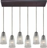 ELK 10437-6RC Hand Formed Glass Modern Oil Rubbed Bronze Multi Drop Lighting Fixture