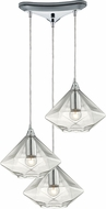 ELK 10440-3 Geometrics Contemporary Polished Chrome Multi Lighting Pendant