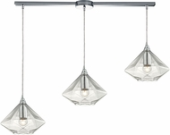 ELK 10440-3L Geometrics Modern Polished Chrome Multi Pendant Lamp