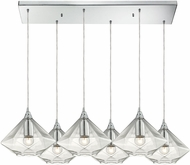 ELK 10440-6RC Geometrics Contemporary Polished Chrome Multi Hanging Lamp