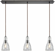 ELK 10446-3LP Hand-Formed Glass Contemporary Oil Rubbed Bronze Multi Hanging Light