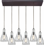 ELK 10446-6RC Hand-Formed Glass Contemporary Oil Rubbed Bronze Multi Pendant Lighting Fixture