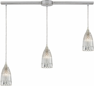ELK 10458-3L Kersey Modern Satin Nickel Multi Hanging Pendant Light