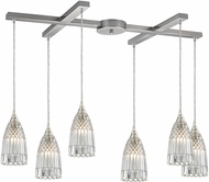 ELK 10458-6 Kersey Contemporary Satin Nickel Multi Pendant Hanging Light