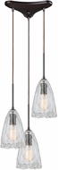 ELK 10459-3 Hand-Formed Glass Contemporary Oil Rubbed Bronze Multi Ceiling Pendant Light