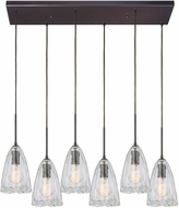 ELK 10459-6RC Hand-Formed Glass Contemporary Oil Rubbed Bronze Multi Pendant Light