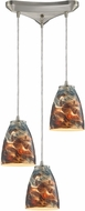 ELK 10460-3CS Abstractions Modern Satin Nickel Multi Ceiling Pendant Light