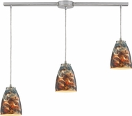 ELK 10460-3L-CS Abstractions Contemporary Satin Nickel Multi Drop Ceiling Light Fixture