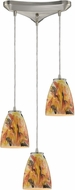 ELK 10460-3SF Abstractions Contemporary Satin Nickel Multi Lighting Pendant