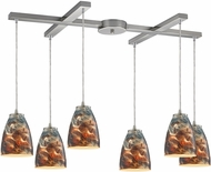 ELK 10460-6CS Abstractions Modern Satin Nickel Multi Pendant Lamp