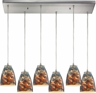 ELK 10460-6RC-CS Abstractions Modern Satin Nickel Multi Hanging Light