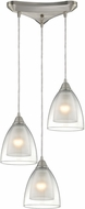 ELK 10464-3 Layers Contemporary Satin Nickel Multi Pendant Hanging Light