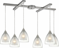 ELK 10464-6 Layers Contemporary Satin Nickel Multi Drop Lighting