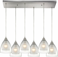 ELK 10464-6RC Layers Modern Satin Nickel Multi Drop Ceiling Lighting