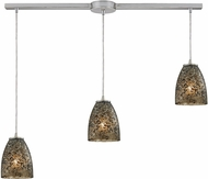 ELK 10465-3L-BRF Fissure Modern Satin Nickel Multi Drop Lighting Fixture