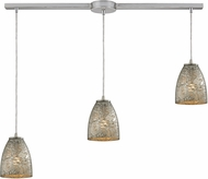 ELK 10465-3L-SVF Fissure Contemporary Satin Nickel Multi Pendant Lighting