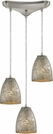 ELK 10465-3SVF Fissure Modern Satin Nickel Multi Pendant Light
