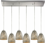 ELK 10465-6RC-SVF Fissure Contemporary Satin Nickel Multi Hanging Lamp